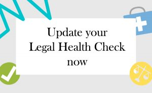 update your Legal health Check now